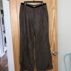 Anthropologie Elevenses linen trousers size 10